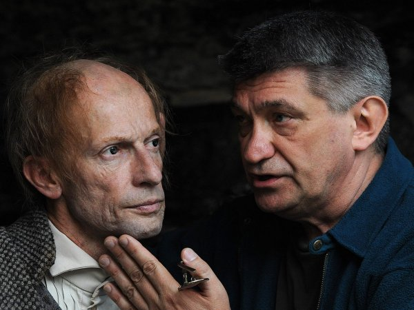 Anton Adasinsky &#038; Alexander Sokurov at filming of the Faust. Photo by Jiri Hanzl, (c) Proline-Film